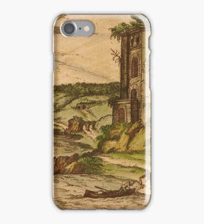 Baia Vintage map.Geography Italy ,city view,building,political,Lithography,historical fashion,geo design,Cartography,Country,Science,history,urban iPhone Case/Skin