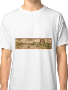 Baia Vintage map.Geography Italy ,city view,building,political,Lithography,historical fashion,geo design,Cartography,Country,Science,history,urban Classic T-Shirt