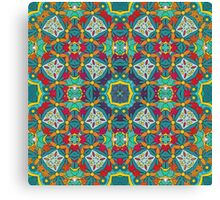 Abstract colorful tiles mosaic painting geometric  Canvas Print