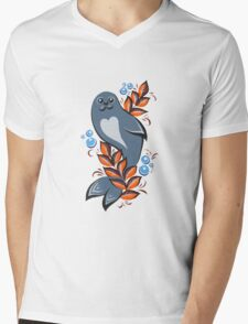 The Seal Mens V-Neck T-Shirt