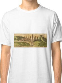 Azemmour Vintage map.Geography Morocco ,city view,building,political,Lithography,historical fashion,geo design,Cartography,Country,Science,history,urban Classic T-Shirt