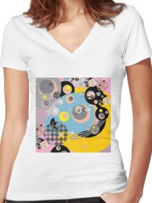 hello bloop Women's Fitted V-Neck T-Shirt
