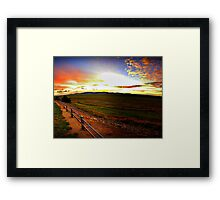 Early Morning over Lake George Framed Print