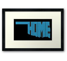 Oklahoma HOME state design Framed Print