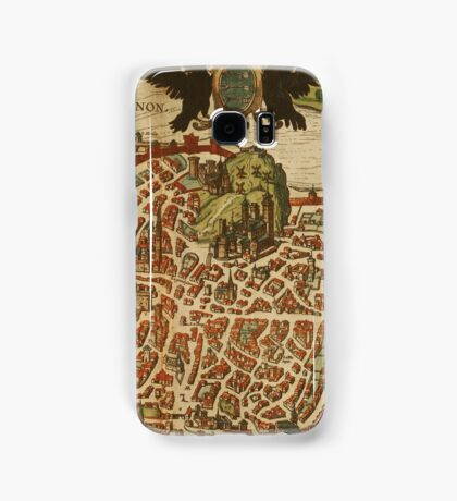 Avignon Vintage map.Geography France ,city view,building,political,Lithography,historical fashion,geo design,Cartography,Country,Science,history,urban Samsung Galaxy Case/Skin
