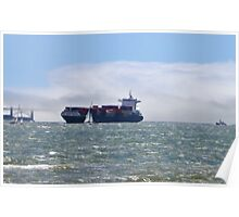 San Francisco Freighter coming in Poster