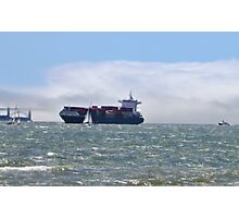 San Francisco Freighter coming in Photographic Print