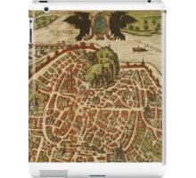 Avignon Vintage map.Geography France ,city view,building,political,Lithography,historical fashion,geo design,Cartography,Country,Science,history,urban iPad Case/Skin