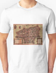 Augsburg Vintage map.Geography Germany ,city view,building,political,Lithography,historical fashion,geo design,Cartography,Country,Science,history,urban Unisex T-Shirt
