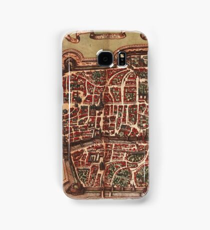 Augsburg Vintage map.Geography Germany ,city view,building,political,Lithography,historical fashion,geo design,Cartography,Country,Science,history,urban Samsung Galaxy Case/Skin