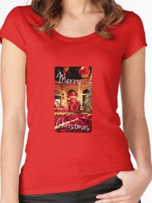 Jester Christmas Greeting Women's Fitted Scoop T-Shirt