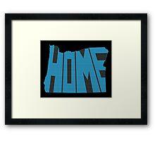 Oregon HOME state design Framed Print