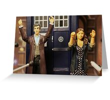 """Out of the frying pan and into the fire eh Clara?"" Greeting Card"