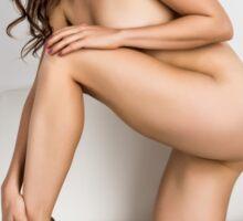 Kristy - Implied Nude on Chair Sticker