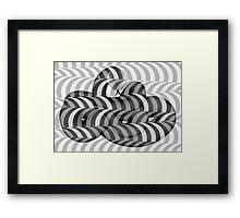 OP Snake Black and White Framed Print