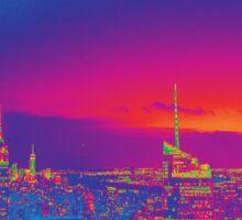 NYC Skyline Neon Sticker