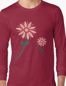 Curved tree branch with fantastic flowers Long Sleeve T-Shirt