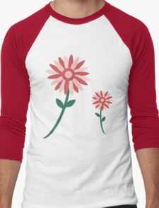 Curved tree branch with fantastic flowers Men's Baseball ¾ T-Shirt