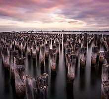 What's left of an icon - Port Melbourne Pier by Sue Hawken