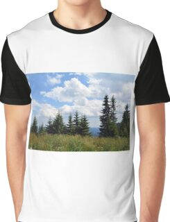 Natural scenery with trees and cloudy sky. Graphic T-Shirt