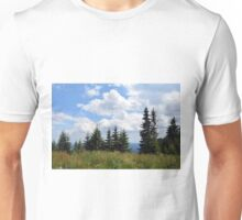 Natural scenery with trees and cloudy sky. Unisex T-Shirt
