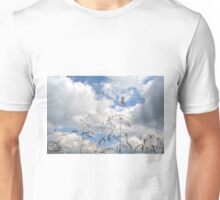 Plants close up against cloudy sky. Unisex T-Shirt