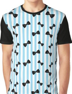 Classy Bow - Sky Blue Graphic T-Shirt