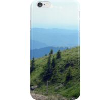 Natural mountains scenery with trees and cloudy sky. iPhone Case/Skin