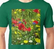 Artistic Wild Flowers Unisex T-Shirt