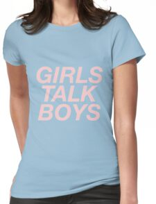girls talk boys vers. 1 - black Womens Fitted T-Shirt