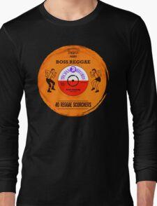 "TROJAN RECORDS VINYL "" BOSS REGGAE "" Long Sleeve T-Shirt"
