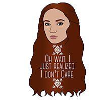 Sansa Don't Care Photographic Print