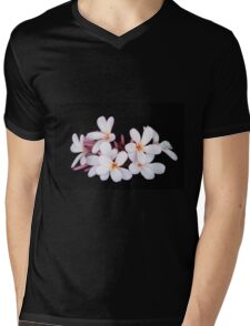 Frangipani / plumeria on black Mens V-Neck T-Shirt