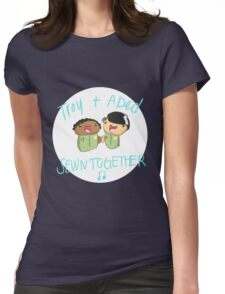 Troy and Abed Sewn Together! Womens Fitted T-Shirt