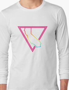 pink triangle california Long Sleeve T-Shirt