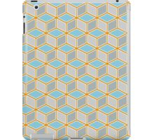 Tumbling Blocks, Orange/Blue iPad Case/Skin