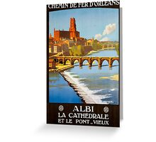 Albi, French Travel Poster Greeting Card