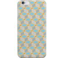 Tumbling Blocks, Orange/Blue iPhone Case/Skin