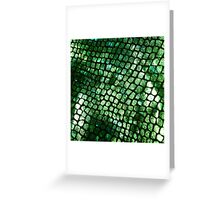 Shiny Emerald Scales Greeting Card