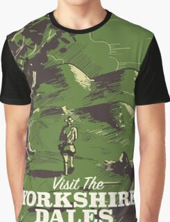 Yorkshire Dales vintage style travel poster Graphic T-Shirt