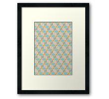 Tumbling Blocks, Orange/Blue Framed Print