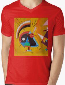 Abstract Kandinsky painting Mens V-Neck T-Shirt