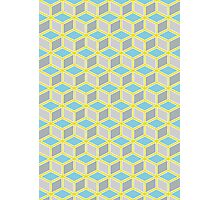 Tumbling Blocks, Yellow/Blue Photographic Print