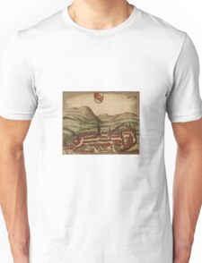Bern Vintage map.Geography Switzerland ,city view,building,political,Lithography,historical fashion,geo design,Cartography,Country,Science,history,urban Unisex T-Shirt
