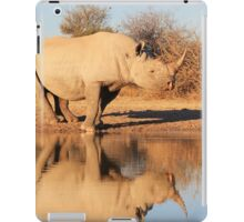 Black Rhino - Reflection of Rare Beauty - African Wildlife  iPad Case/Skin