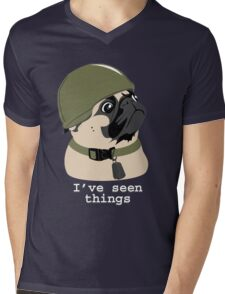 Pug of War Mens V-Neck T-Shirt