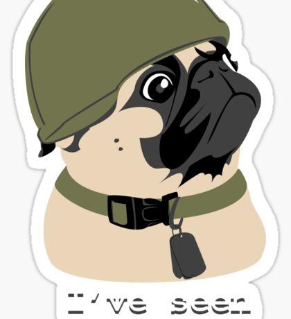 Pug of War Sticker