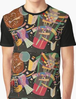 Abstract colour on black Kandinsky painting Graphic T-Shirt