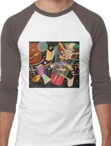 Abstract colour on black Kandinsky painting Men's Baseball ¾ T-Shirt