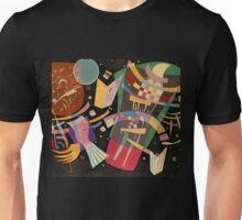 Abstract colour on black Kandinsky painting Unisex T-Shirt